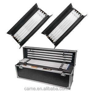 CAME-TV 2Kits 4ft 4bank Video Light Fluorescent Light Ballast As Kinoflo with Flycase