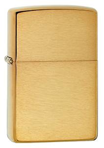 Zippo Brushed Finish Brass Armor Heavy Wall Lighter Brushed Brass Finish Flint Windproof