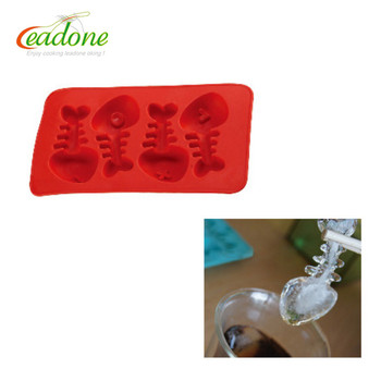 LD-C0057 Food Grade Silicone Ice Cube Tray Maker Mold For Party Bar Kitchen Easy DIY