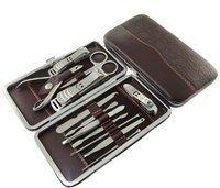 12 piece Manicure Set Nail Care 12 Piece Cutter Cuticle Clipper Manicure Pedicure Kit Case Gift Set