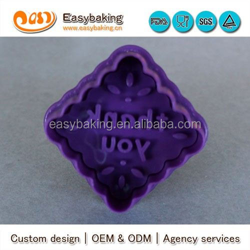 CP-0348 Customized thank you Stamp Plastic Cookie Cutter