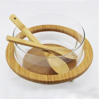 Reusable Large Wooden Gl Salad Bowl Antique Fruit Wood