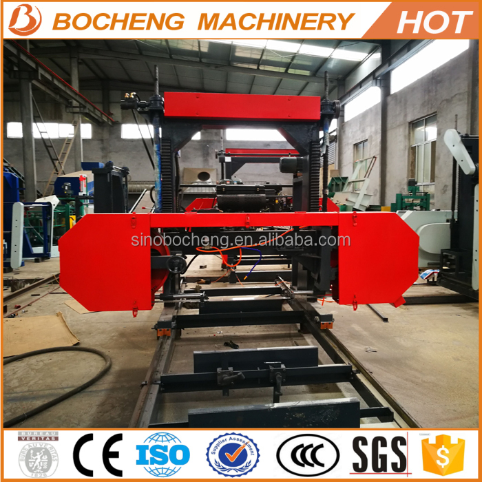 Diesel Portable Horizontal Band Sawmill For Hardwood Cutting MJ700