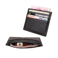 Oempromo PU leather or genuine leather card holder wallet