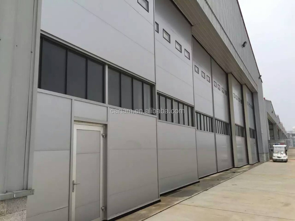 Large span heavy steel structure sliding aircraft hangar door