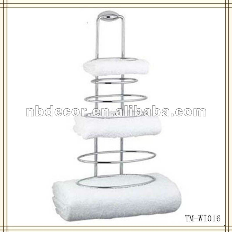 Metal Wire Wall Mounted Towel Shelf - Buy Wire Towel Shelf,Wall ...
