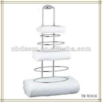 Metal Wire Wall Mounted Towel Shelf - Buy Wire Towel Shelf,Wall ...
