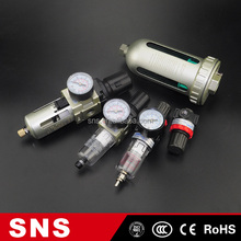 SNS AC series gas oxygen air pressure filter regulator combination