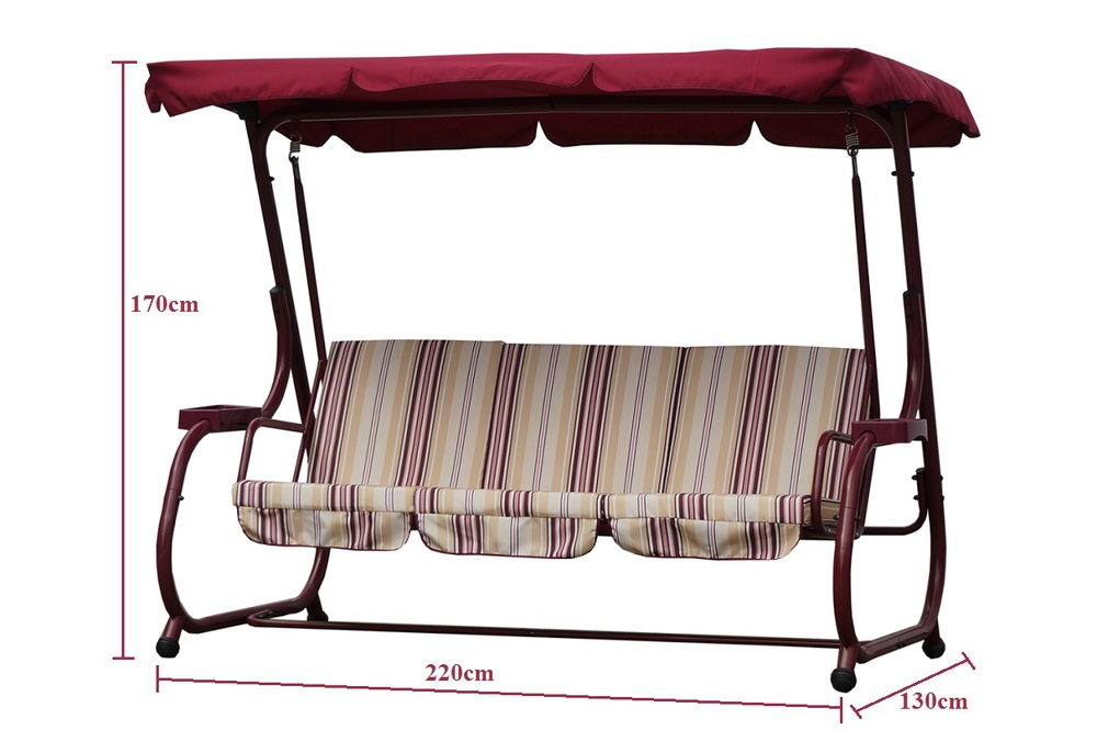3-person patio swing with canopy outdoor furniture 2014