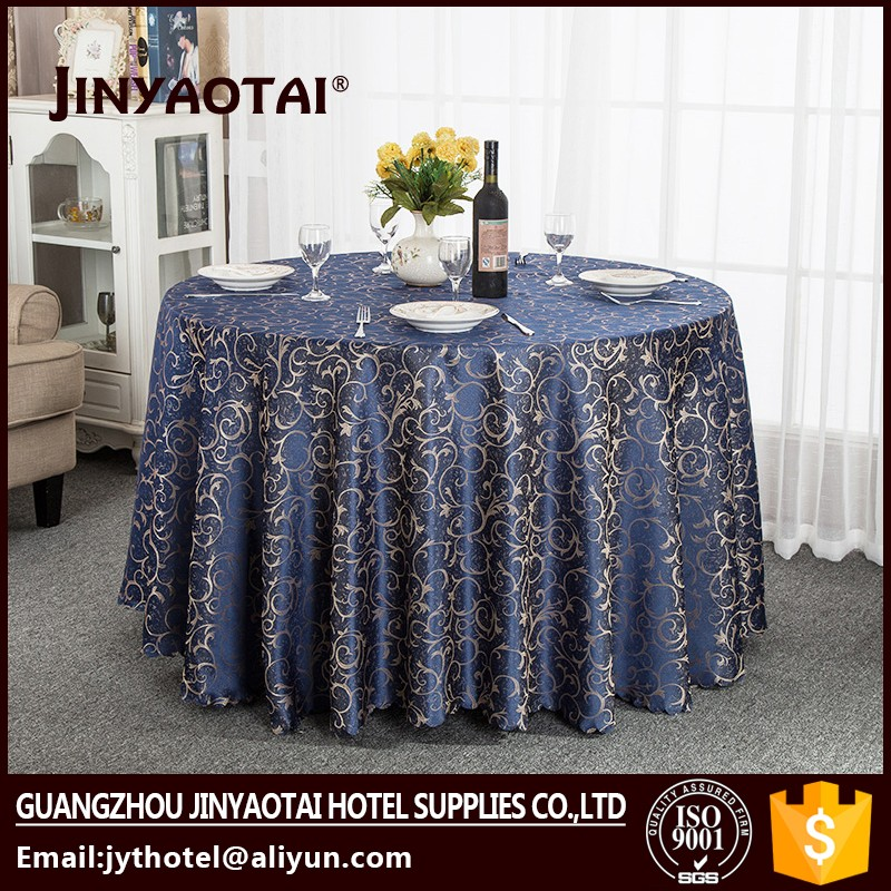china wholesale Dobby hand embroidery table cover in table cover weighted table cloth