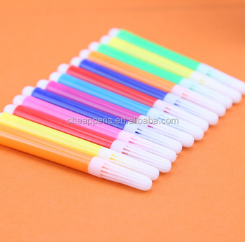 cheap mini bulk non toxic washable watercolor pen 12 color brushes student stationery