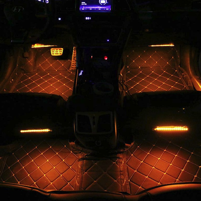 Car Dashboard Interior Motorcycle Ambient Light 4 In One