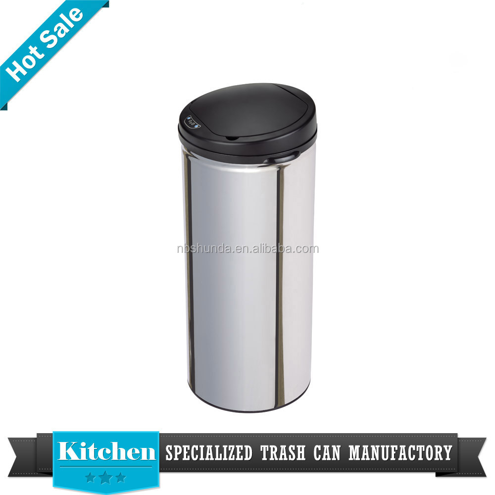 battery dustbin manufacturer steel automatic sensor waste bin