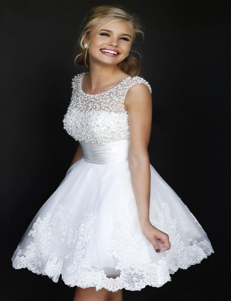 lune lapin 2016 nouveau blancivoire robes de marie courte le maries sexy dentelle de - Tole Blanche Mariage