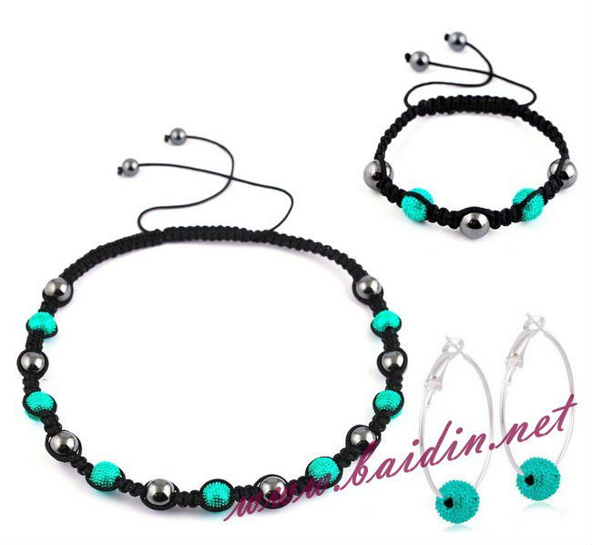 Fashion shamballa costume jewelry neckalce