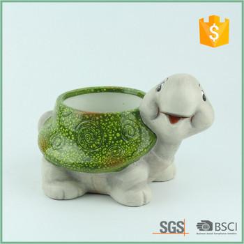 Ceramic Turtle Garden Planter Flower Pot