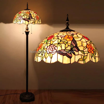 Tff 1664 Antique Vintage Lamps Home Decorative Handcraft Stained Glass Tiffany Rustic Standing Lamp Buy Tiffany Stand Lamp Vintage Floor Lamp Glass