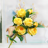 European oil painting simulation small roses flower head wholesale