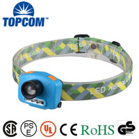 Hands Free Sensor Headlamp Adjustable Focus Zoom UV LED Fishing Headlamp with Red Light