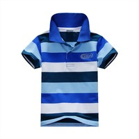 2018 New Styles Custom Made Your Own Logo 100% Cotton Polo T-shirts BOYS