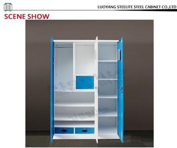 three doors lockable wardrobe closetcloth wardrobe