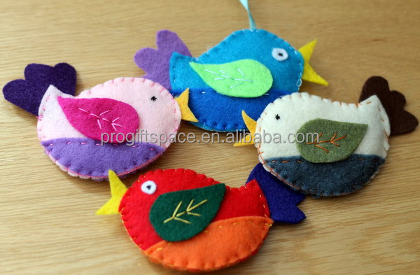 New hot sale china handmade fabric bird craft wholesale