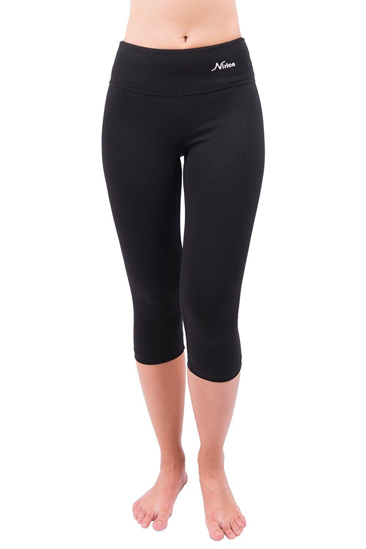 36f8f3b1557d6 Get Quotations · Nirlon Capri Yoga Pants Capri's for Women Best Cropped Leggings  Athletic Running Jogging Workout & Sport