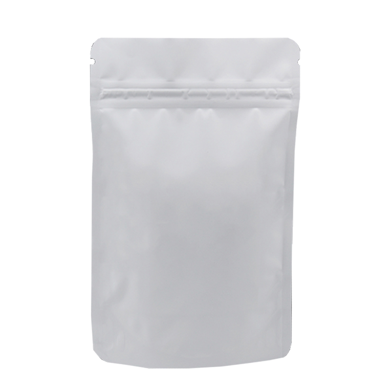 Laminated material white aluminum foil bag for food stand up vacuum nylon zipper bag