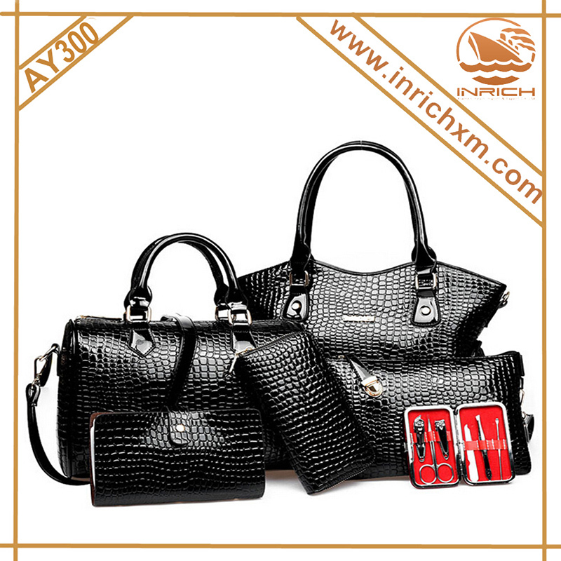 6pcs in 1 set cheap price tote lady handbag, High qualityhigh quality cutlery set