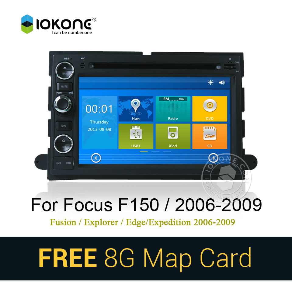 windows CE touch screen car multimeida with 3g bluetooth mic for Ford Fusion/Explorer/F150 2006-2009