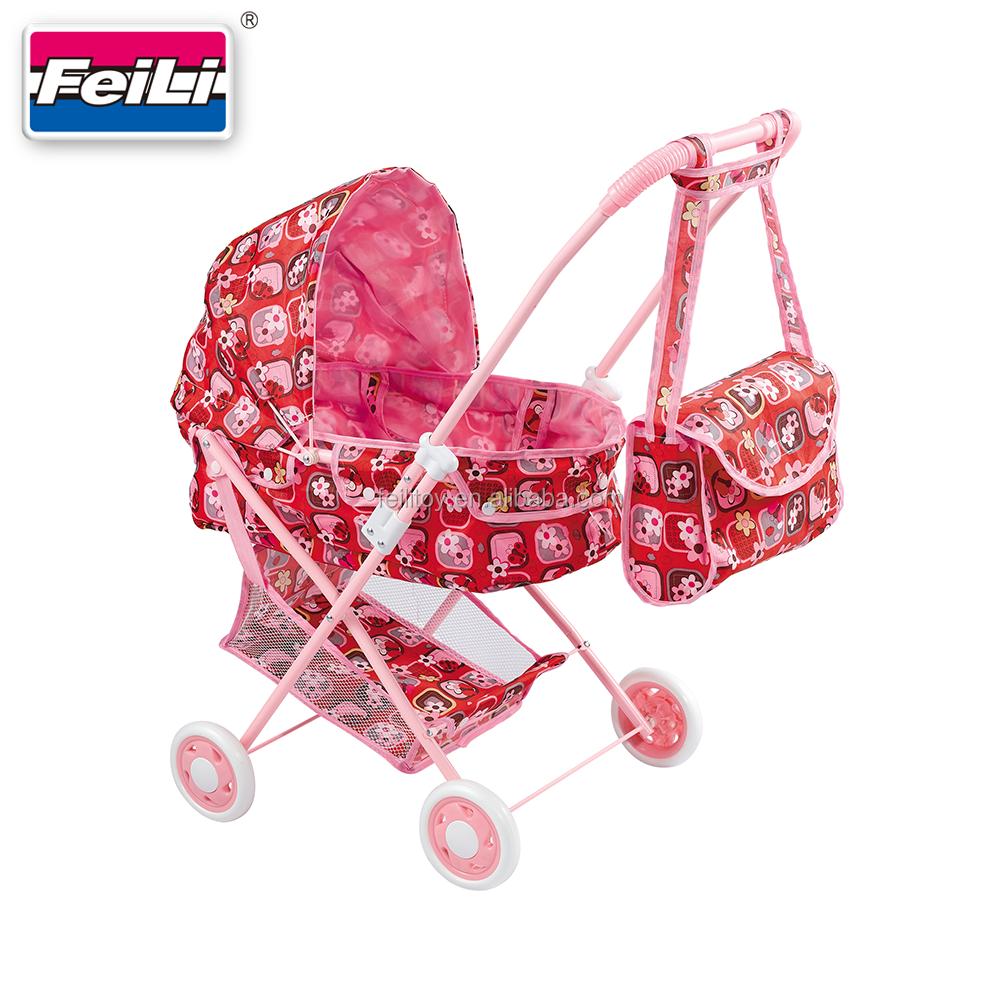 페이 리튬 최고의 판매 핑크 인형 유모차 어깨 가방 인형 유모차 유모차 장난감 인형 유모차