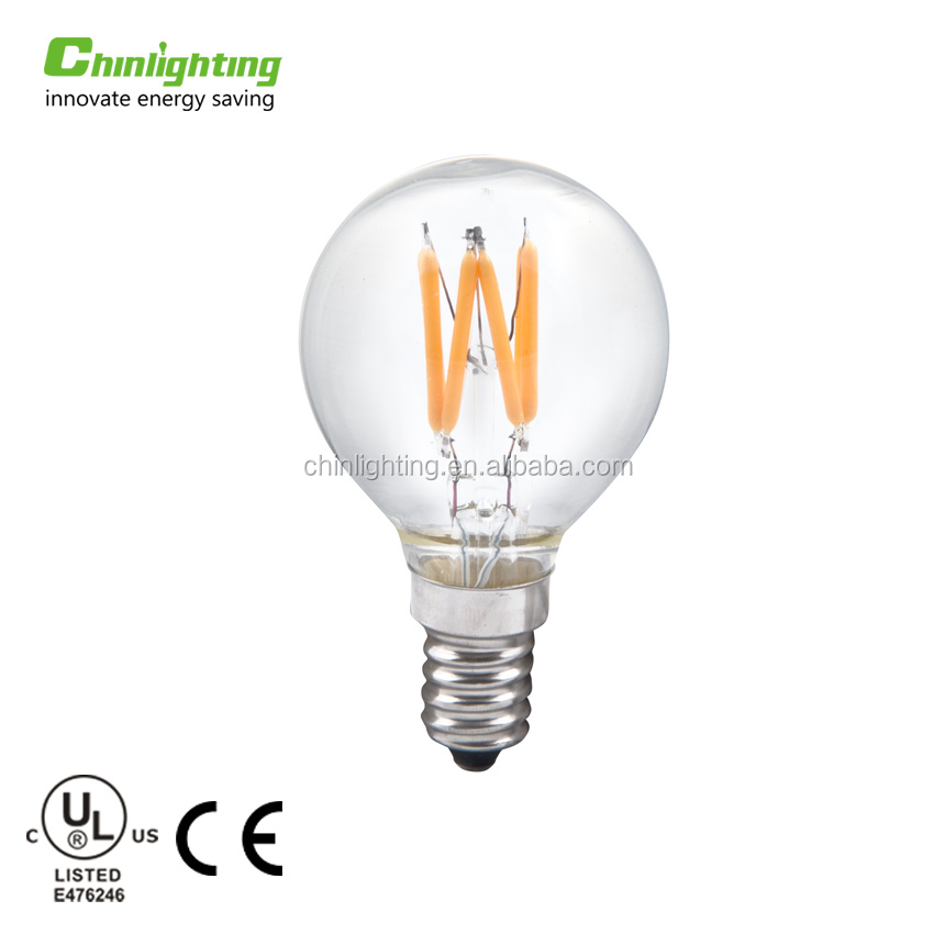 Hot selling LED gloeidraad licht filament lamp G45 E14 E27 led gloeilamp uit China