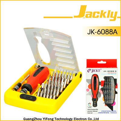 JK-6088A packing removal screwdriver set,CE Certification.