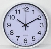 12'' Plastic simple custom logo cheap wholesale wall clock