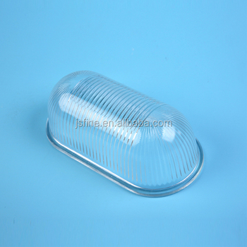 Clear Oval Waterproof Glass Outdoor Light Cover Buy Outdoor Light