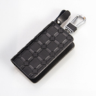 Wholesale Leather Key wallet zipper genuine leather car keychain keyholder
