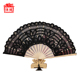 Bulk Quality Spanish Fans For Sale Spanish Woven Black Lace Fans HQNS-03-2