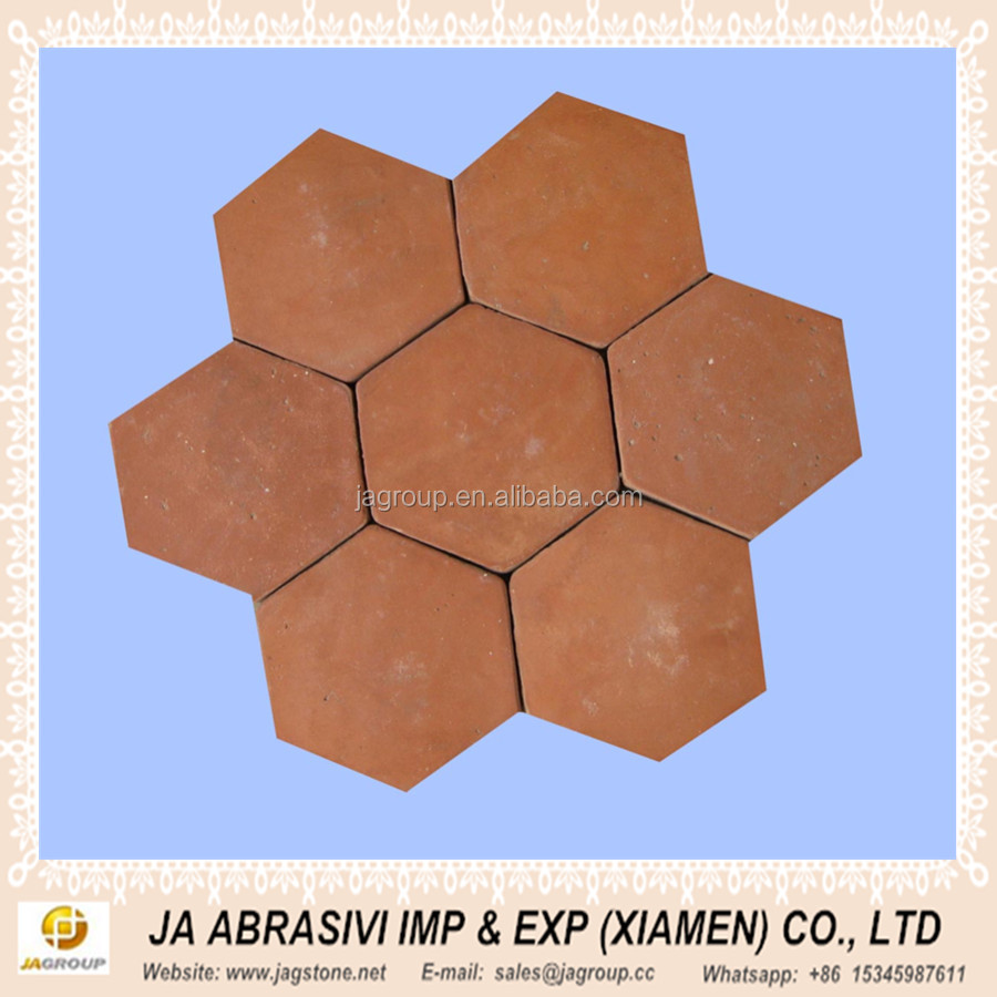 Hexagon terracotta floor tile h natural caly buy outdoor floor hexagon terracotta floor tile h natural caly dailygadgetfo Choice Image