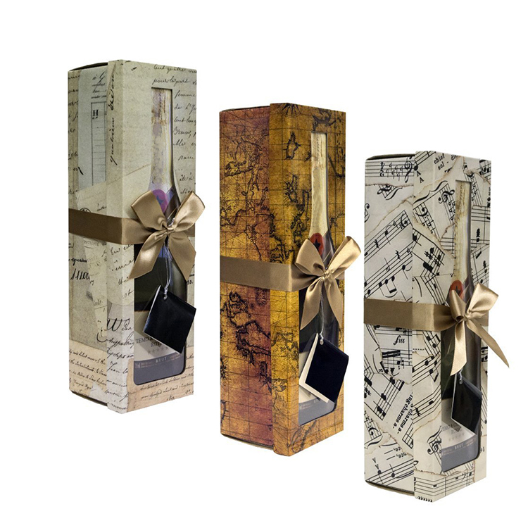 Christmas Champagne Glass Gift Bag Recycle Paper