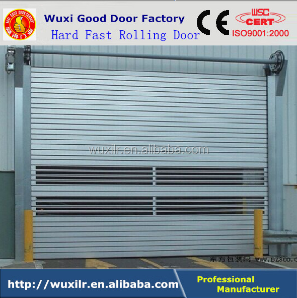 Electric Automatic Revolving Hard Aluminum Fast Sectional Rolling Door