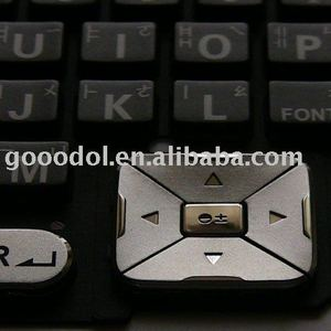 plastic + rubber(P+R) keypad for mobile phone