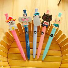 10pcs/lot Cute Cartoon animal ballpoint pens for writing Zakka Blue ink pens for kids kawaii stationery office school supplies