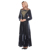 Zakiyyah N201802 Latest pleuche arab abaya dress 2018 Embroidered lone wine women muslim dress burqa designs