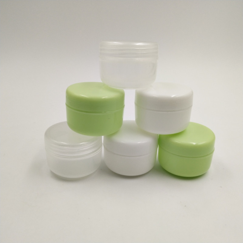 10g plastic colored small cosmetic cream jar empty refillable mini container for eye cream