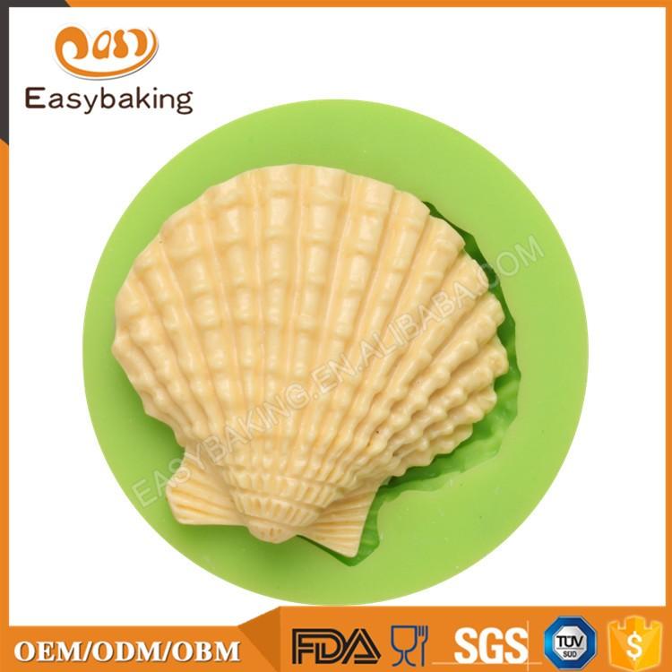 ES-0507 Seashell Shaped Silicone Molds Fondant Mould for cake decorating