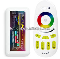 2.4 G RF Wireless full touch 4 zone LED RGB controller, WIFI LED RGB controller
