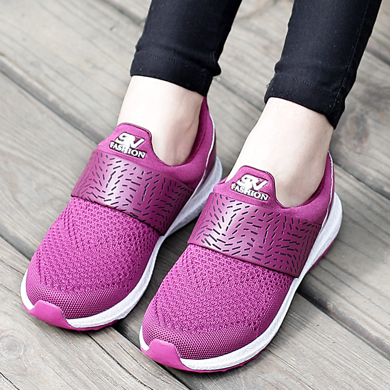 New Arrival Lightweight Women Mesh Shoes Casual Ladies Slip On Flat Shoes