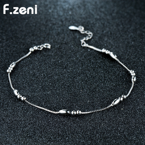New Design 925 Sterling 18k White Gold Plated Charm Anklet Bracelet Chain Jewelry Set Custom Women Latest Silver Anklet