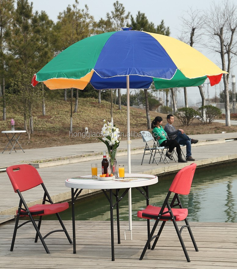 Lightweight Outdoor Furniture 3ft Plastic Folding Round Beer Table(blow  Mold,Hdpe,Steel,Umbrella) - Buy Outdoor Furniture Beer Table,3ft Plastic  Round Table ... - Lightweight Outdoor Furniture 3ft Plastic Folding Round Beer Table