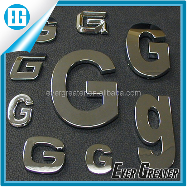 customized 3M tape chrome japanese stickers car badge Adhesive 3D Car Body Emblem 22T metal chrome car